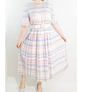 Vintage Sabino Petites Pleated Dress